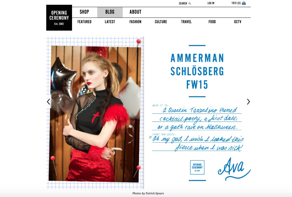 Ammerman Schlosberg FW15 for OC Post