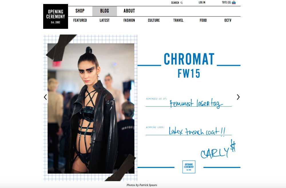 Chromat FW15 for OC Post
