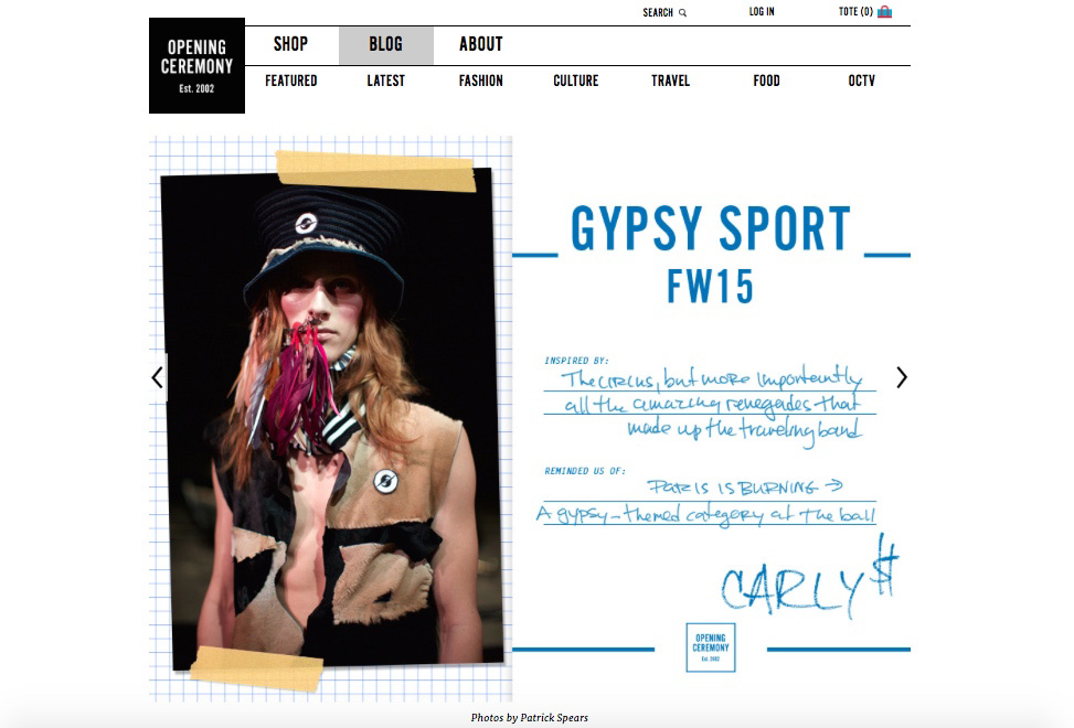 Gypsy Sport FW15 for Post